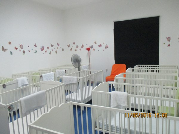Baby Blooms and Poppy sleeping room