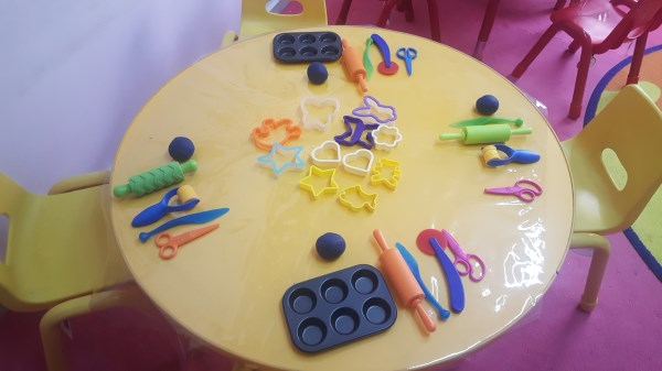 Fun with play dough