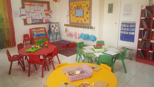 Colourful classrooms set up