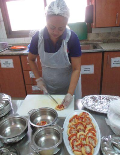 Preparing food stuffs