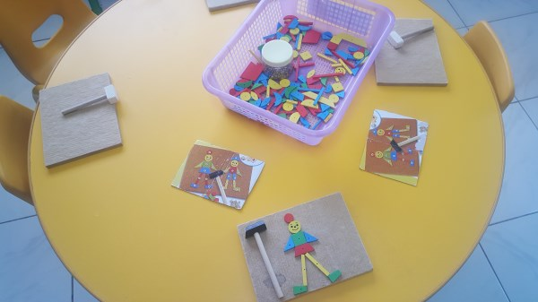 Technology - using hammers and nails to construct with imagination.