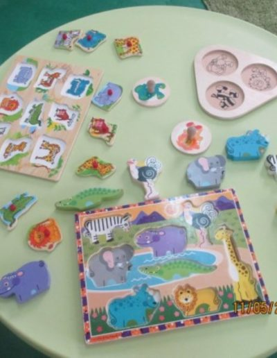 Assorted jigsaws for little hands to develop hand to eye coordination